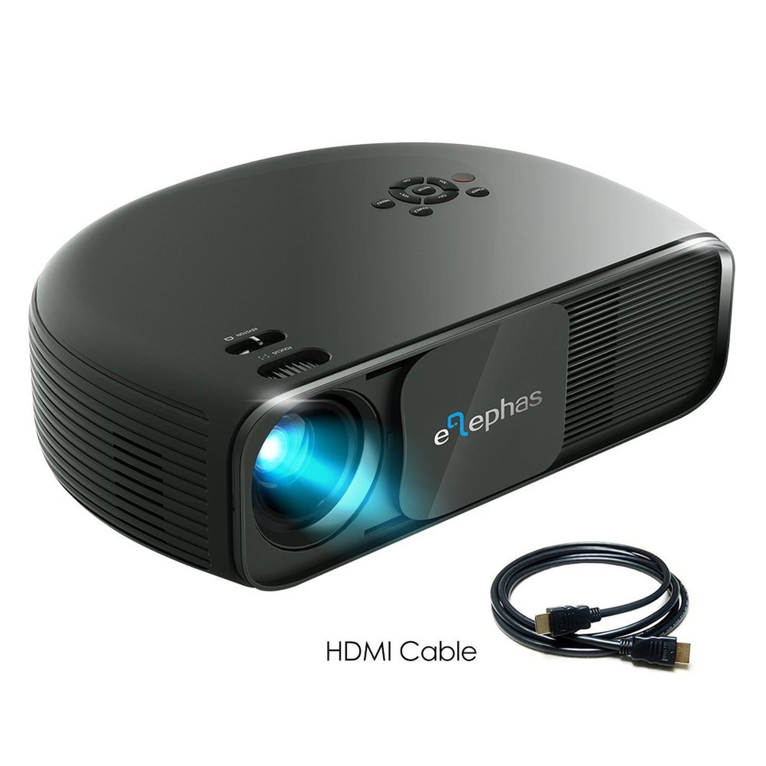 ELEPHAS 1080P HD LED Movie Projector, with 3500 Luminous Efficiency LCD Video...