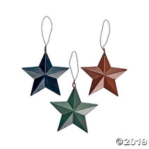 Barn Star Christmas Ornaments  - $21.24