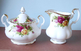 Royal Albert Old Country Roses Sugar Bowl & Creamer New - $79.90