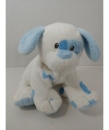 Ty Pluffies Pups Blue white Plush puppy dog soft baby Toy stuffed animal  - $19.79