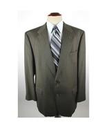 Burberry's Blazer Men's size 46L Green Striped Wool Sport Coat Jacket - $58.88