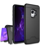 Samsung Galaxy S9 Plus Case with Raised Lip for Screen Protector BLACK - $9.89