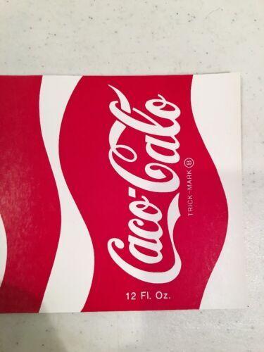 Rare CACO CALO decal Sticker Can Wrap Prank COCA COLA TRICK-Mark