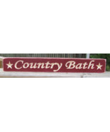 Primitive wood Engraved Block 1638 Country Bath - $5.95