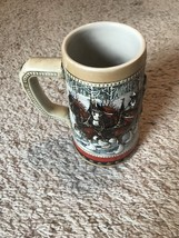 Budweiser Clydesdale Collector Series 1988 Holiday Stein Beer Mug! - $12.99