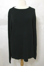 RALPH LAUREN Polo Jeans Sweater Black Ribbed LS Cotton NWOT XXL - $116.99