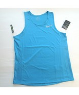 Nike Men Dry Miler Running Shirt - AT3947 - Aqua 482 - Size M - NWT - $19.99