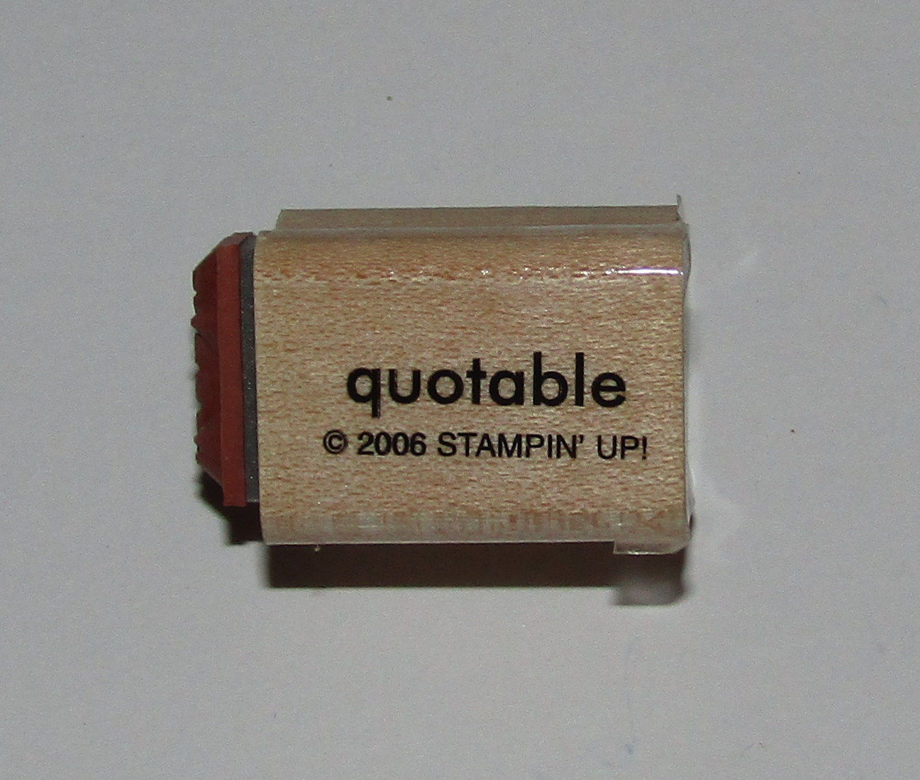 "Primary image for Quotable Thanks Rubber Stamp Mini Words Stampin Up Two-In-One WM 1"" Long"
