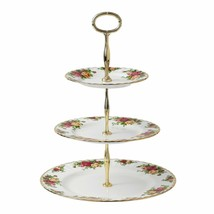 Royal Albert Old Country Roses 3-Tier Cake Stand Fine Bone China NEW IN ... - $128.69