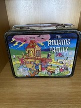 1974 Addams Family (Hanna-Barbera) Cartoon Metal Lunch Box No Thermos Rare Vtg - $100.98