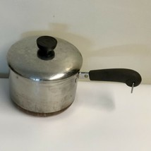 Revere Ware 1801 Copper Bottom 2 Qt - 80 Rome N.Y. USA Sauce Pan w/ Lid - $37.99