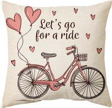 Gift Wrap Let's go for a ride love cushion cover (16x16 inch) - £15.27 GBP