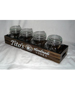 "New Tito's Handmade Vodka Wooden Tray 19.25"" x 5.5"" x 2.75"" & 4 Infusion... - $59.35"