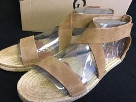 UGG Australia Womens Mila Gladiator Espadrille Sandal Suede Chestnut 1016877 - $65.44+