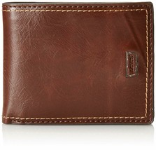Levi's Men's Premium Leather Credit Card Id Wallet Bifold Brown 31LV130002