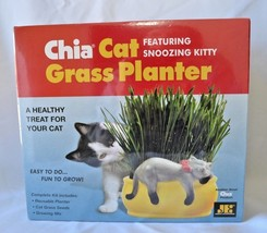 Snoozing Cat Chia Cat Grass Planter – A Healthy Treat for your Cat NIB - ₹1,796.92 INR