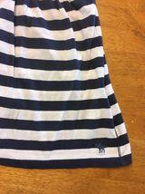Abercrombie New York Blue & White Striped Girls Tube Top Shirt - Size: XL image 5