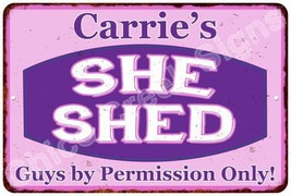 Carrie's Purple & Pink SHE SHED Vintage Sign 8x12 Woman Wall Décor A8120... - $16.95+