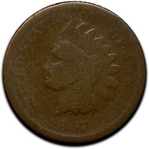 1867 Indian Head Cent Penny Coin Lot# A 336