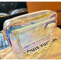 Louis Vuitton Pochette Volga Prism Virgil Abloh Clutch Bag Pouch FW19 - $2,455.20
