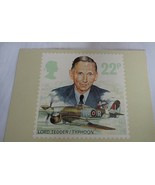 Royal Mail Post Card Lord Tedder/Typhoon The Royal Airforce PHQ 97 (b) 22p - $9.03