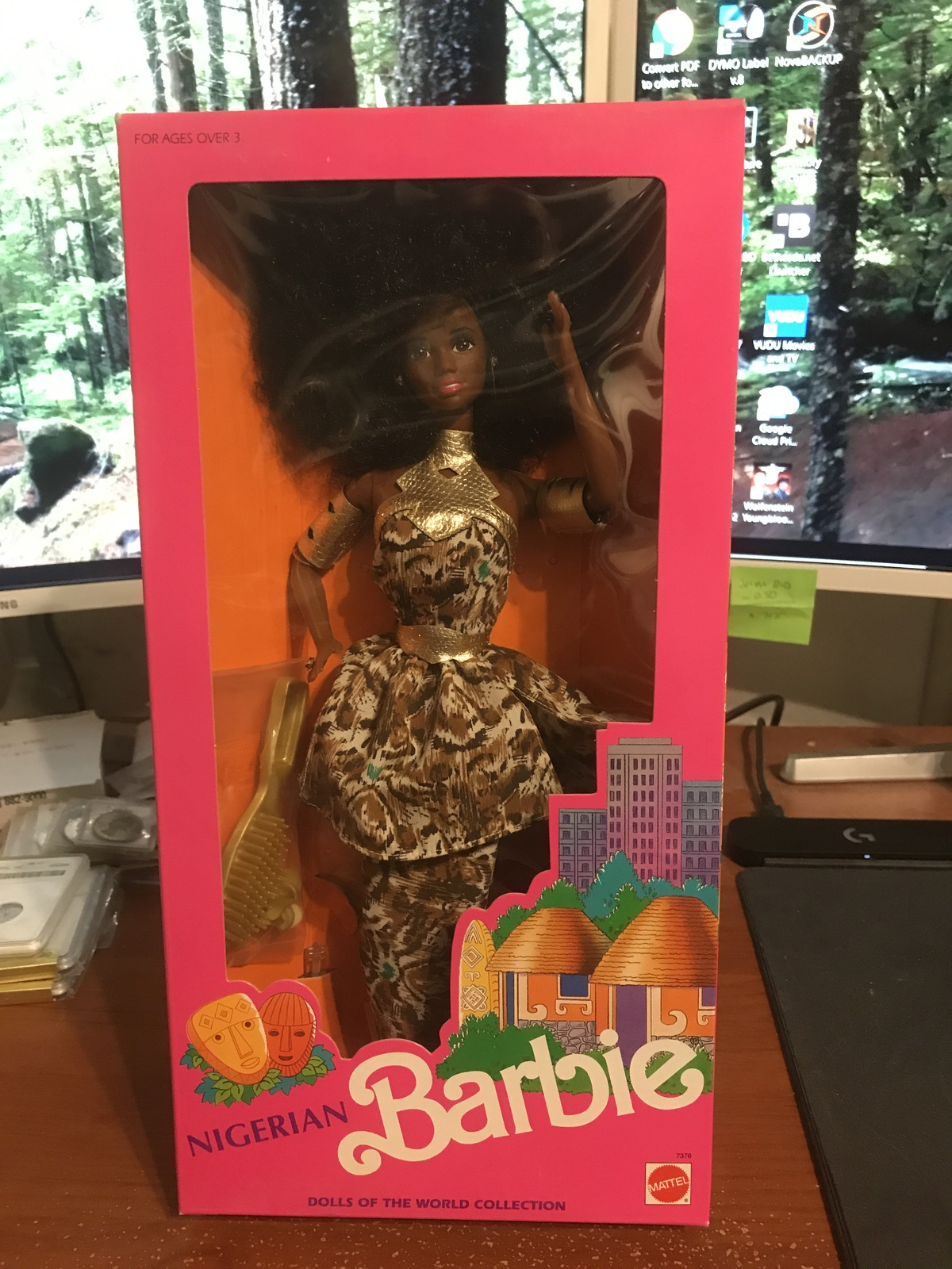 Primary image for 1989 Mattel Dolls Of The World Nigerian Barbie Doll #7376 NIB