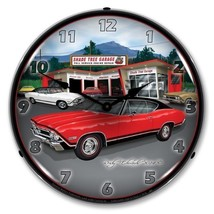 Retro 1968 Chevrolet Red Chevy SS Chevelle Lighted Man Cave Garage Wall ... - $129.95