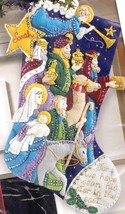 Bucilla The Procession Christmas Nativity Manger Star Felt Stocking Kit 86055 - $188.95