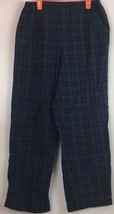 Men's LL Bean Green Blue Plaid Flannel Pajama Pant Lounge Pant XS Unisex... - $16.63