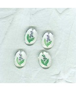 4 Bluebells  Vintage Hand Painted  Resin Pendants   19 x 12 mm - $6.50