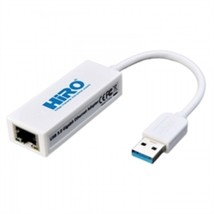 Hiro Network H50224 USB 3.0 to Ethernet 10/100/1000Mbps LAN Adapter Retail - $30.40