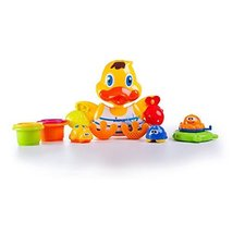 DimpleChild Duck Wall Mounted Bath Toy with Scoops & Floatable Sea Toys ... - $62.00