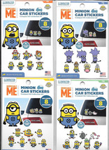 Despicable Me Minion Peel Off Car Stickers Collections 1-4 SEALED Box of... - $106.43