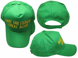 Make Our Farmers Great Again Green! Hat Donald Trump Embroidered Cap - $21.77