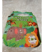 New Just for Jungle handle coloring book w/ over 100 stickers all kids - $5.79