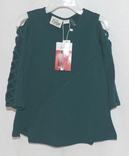 Simply Noelle Curtsy Couture Girls Cutout Long Sleeve Shirt Misty Blue 2T