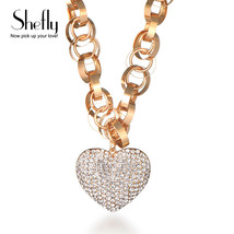 Shefly High Cubic Zirconia Necklace Pendants Cz Crystal Heart Rose Gold ... - $17.90