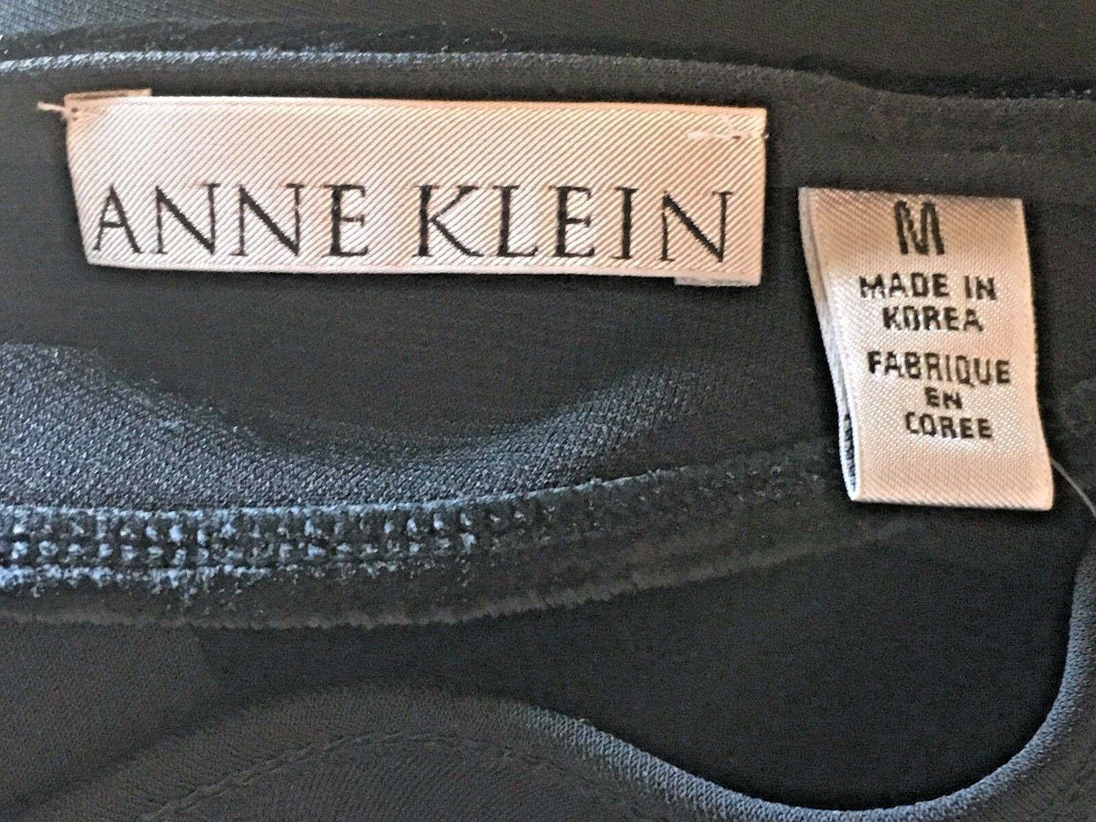Anne Klein Black Velvet & Rayon Cutout Long Formal Dress size S M NWT $225 DS7 image 8