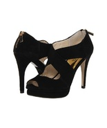 new michael kors elena cross strap opentoe sandals size 9.5 M medium bla... - $95.00