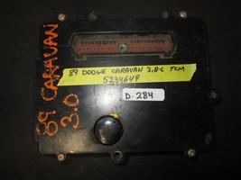 89 DODGE CARAVAN 3.0L TCM #5234649 *See item* - $19.80