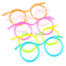 Colorful Funny flexible Soft Glasses Straw Glasses Drinking Tube Fun Dri... - $0.99