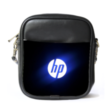 Sling Bag Leather Shoulder Bag HP Logo In Blue Black Design Elegan And ... - $14.00