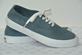 NEW Sperry Top Sider Striper Mens Sz 7.5 M Gray Blue Leather Boat Shoes - $39.59