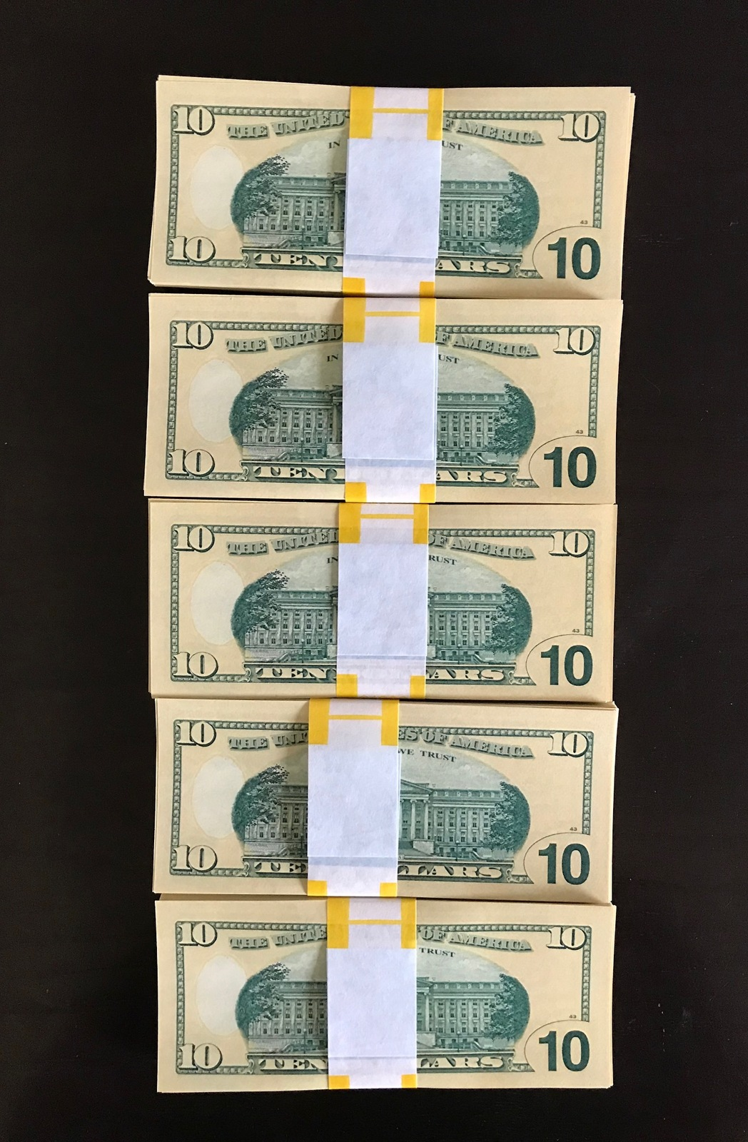 1.000 PROP MONEY REPLICA 10s All Full Print For Movie Video Films etc. image 5