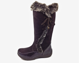 Sporto Waterproof Suede Tall Boot Side Winder Tassel Lace Up Chocolate Size 8.5W - $54.44