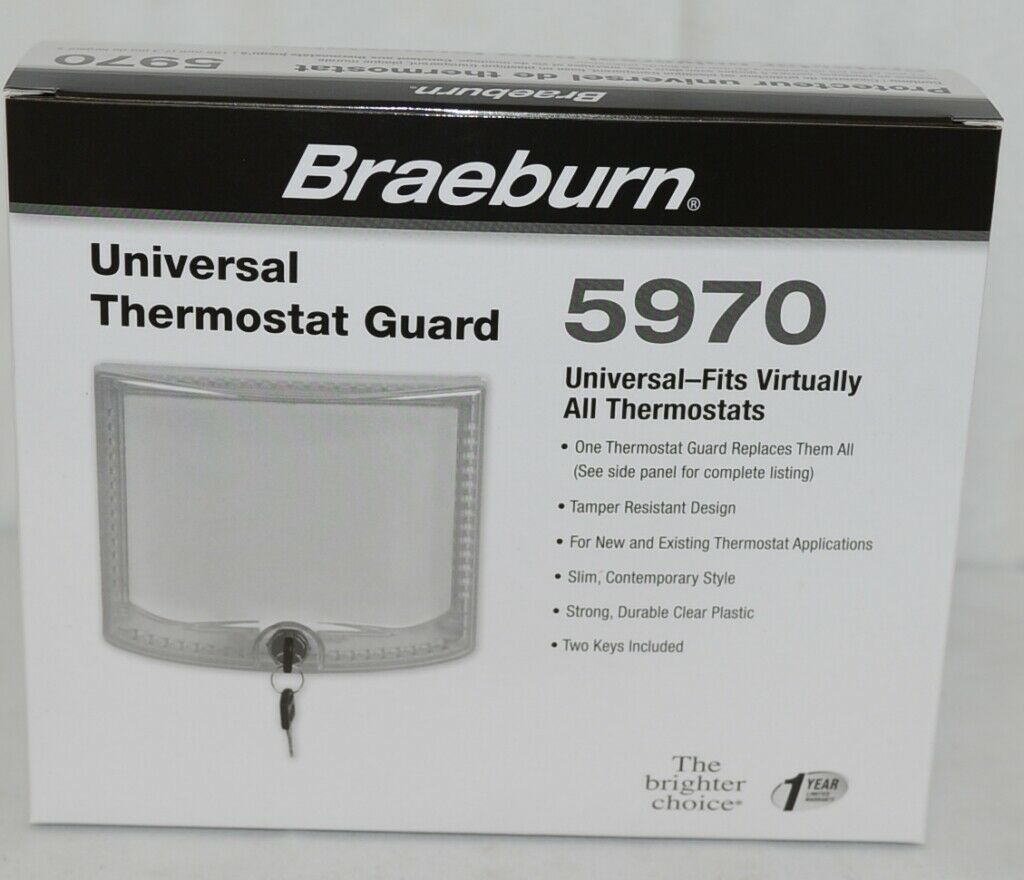 Braeburn Brand Universal Thermostat Guard Fits Virtually All Thermostats