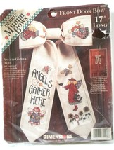 Angels Gather Here Front Door Bow Counted Cross Stitch NEW Kit Fiddlers ... - $16.82