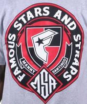 Famous Stars & Straps X Msa Honneur Manny Santiago Skateboard Gris T-Shirt Neuf image 2