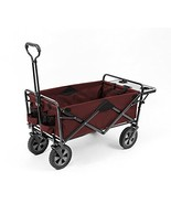 Mac Sports Collapsible Outdoor Utility Wagon with Folding Table and Drin... - $100.11