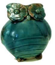 Vintage Owl Pottery Turquoise Retro Mid-Century 1960's - $16.95
